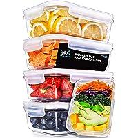 Igluu Meal Prep - [Lot de 5] Boîtes alimentaires en verre pour préparation des repas - Réutilisables, sans BPA…