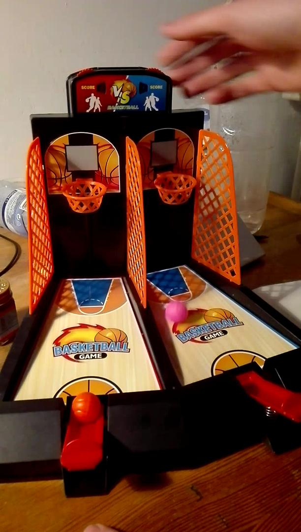 Aidle Mini Juguete de Baloncesto de Escritorio de Metal, Plegable Juguete Portátil, Juego de Baloncesto para Niños Adultos - Ayuda a Reducir el Estrés(Modo ...