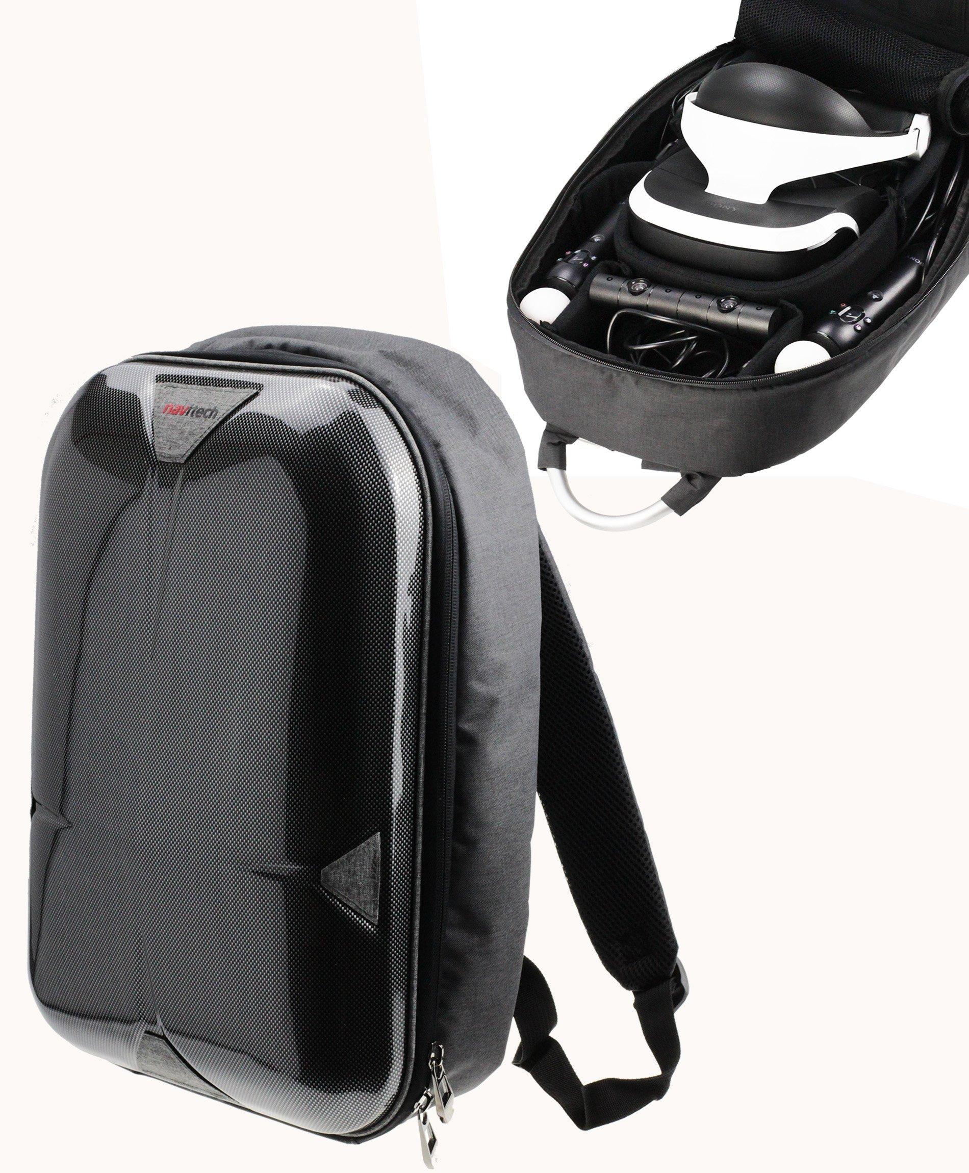Navitech Sac à dos grise / étui / étui de voyage pour le PlayStation VR (PSVR)