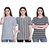 SHAUN 69GAL Women Round Neck T-Shirt(Pack of 3)