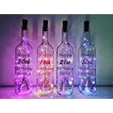 Personalised Birthday Gift - Light Up Wine Bottle - Mums Birthday Gift - Best Friend Gift - 16th, 18th, 21st, 25th, 30th…