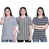 SHAUN 69GAL Women Round Neck T-Shirt(Pack of 3)