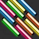 RGB LED Videoleuchte 1200lux,Handheld Fotografie Licht 2500K-9900K,Dimmbar LED Lichtstab Eingebaute 5200mAh Lithiumbatterie ,
