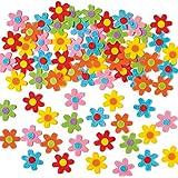 Baker Ross Fleurs autocollantes en Feutrine (Lot de 60) - Matériel créatif pour enfants et adultes