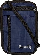 Bendly Travel Neck Stash Wallet, Easy Strings B2 (Blue)