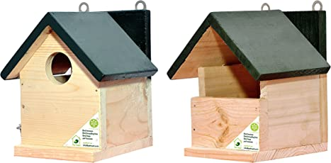 PetNest Bird House for Sparrow and Other Small Garden Birds Home Shape Nest Box Combo (6x6.5x7.5inch)