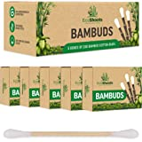 EcoShoots 1000 bamboe wattenstaafjes   Voordeelpakket van 5 x 200 biologische bambuds   Gerecycled plastic gratis verpakking