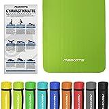 MSPORTS Gymnastikmatte Fitness | inkl. Übungsposter | 190 x 100 x 1,5 cm | Hautfreundlich - Phthalatfrei weich - extra dick | Yogamatte