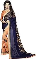 Indira Designer Georgette Saree with Blouse Piece