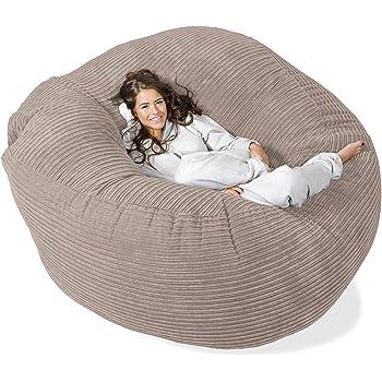 Lounge Pug®, 'Mega-Mammoth' Sofa Sitzsack XXL, Schlafsofa, Cord Nerzfarben