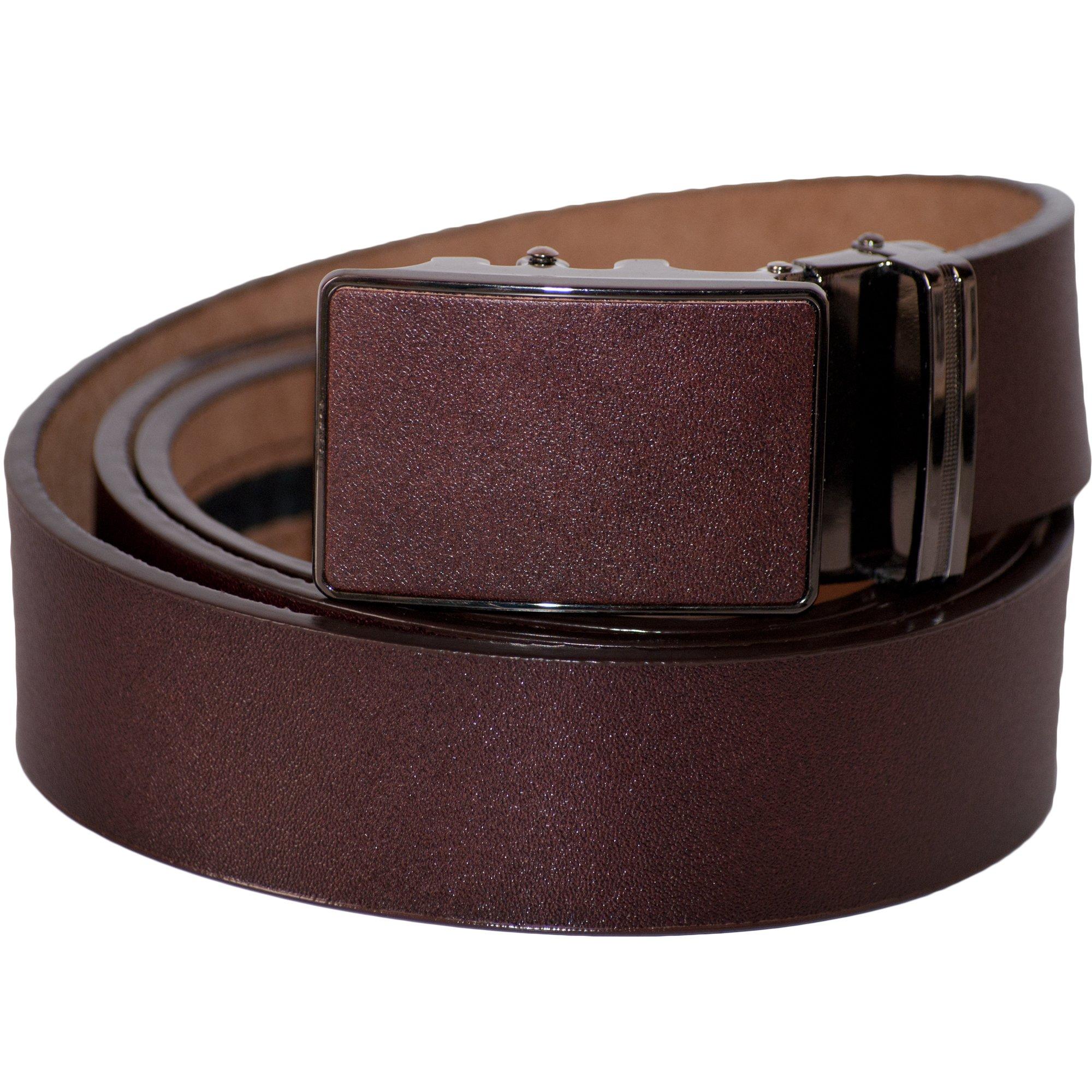 Dazoriginal Marrone Cintura con Fibbia Automatic Cintura da Uomo in Vero Pelle Stile di Affari Autom