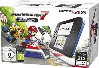 Nintendo 2DS - Konsole (schwarz) inkl. Mario Kart 7 (vorinstalliert)
