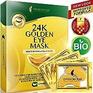 Under Eye Mask Gold Eye Mask Anti-Aging Hyaluronic Acid 24k Gold Eye Patches Under Eye Pads for Moisturizing & Reducing Dark