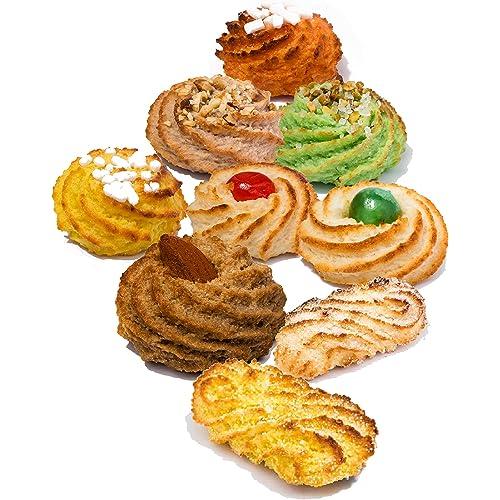 Biscotti siciliani di pasta di mandorle   Box regalo 600 gr   Confezioni sigillate monoporzione   Biscotti assortiti, direttamente da laboratorio artigianale   Dolci siciliani   Pasta di mandorla