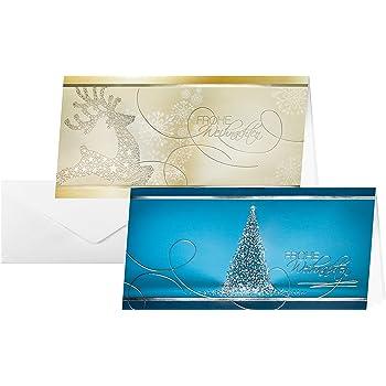 tatmotive 25 er sets weihnachtskarten klappkarten. Black Bedroom Furniture Sets. Home Design Ideas