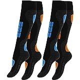 VCA Calcetines para deportes de invierno, 2 pares, con acolchado especial