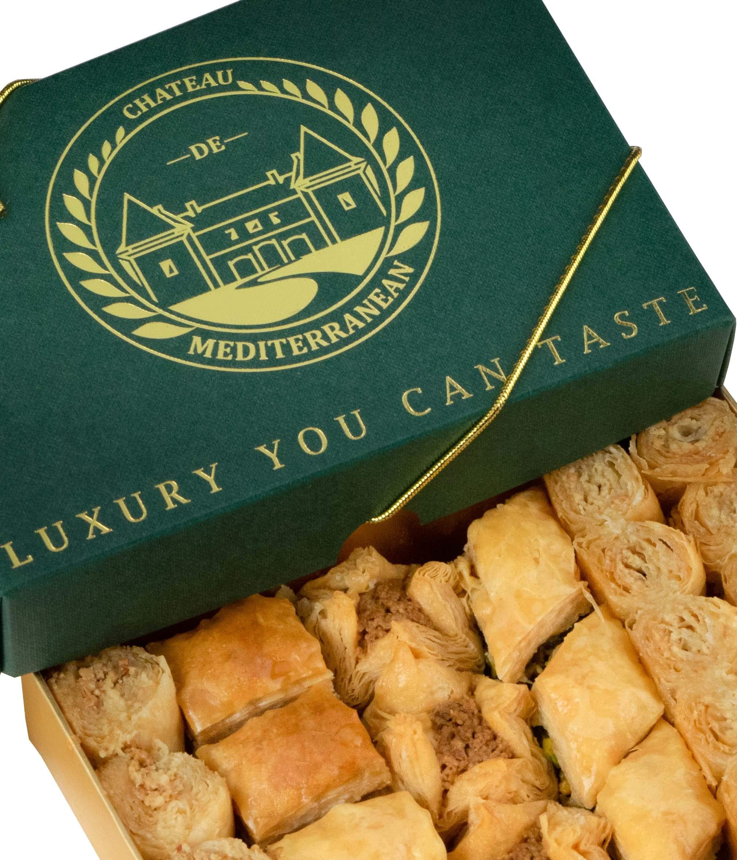 Vegan Baklava Baklawa, 24 Pieces, Chateau de Mediterranean, Gift Box with Ribbon 2
