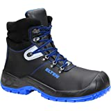 ELTEN Alessio XW Mid ESD S3 Safety Shoes for Men and Women Leather Shoes Robust Blue Steel Toe Cap