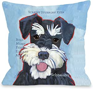 One Bella Casa Schnauzer 2 Pillow for Pets 26 by 26-Inch