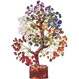 DIPRUV Seven Chakra Crystal Gemstone Tree of Life Healing Reiki Balancing Generator Good Luck Spiritual Gifts Bonsai Home Off