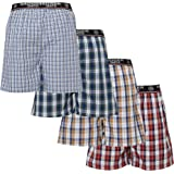 Badger Smith Men's, 5 - Pack and 3 - Pack 100% Cotton Checks Multicolor Boxer Shorts