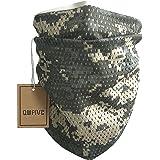 QMFIVE Écharpe tactique camouflage, hommes et femmes unisexe multi-usages bandeau militaire style tête wrap face mesh pour Ai