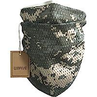 QMFIVE Écharpe tactique camouflage, hommes et femmes unisexe multi-usages bandeau militaire style tête wrap face mesh…