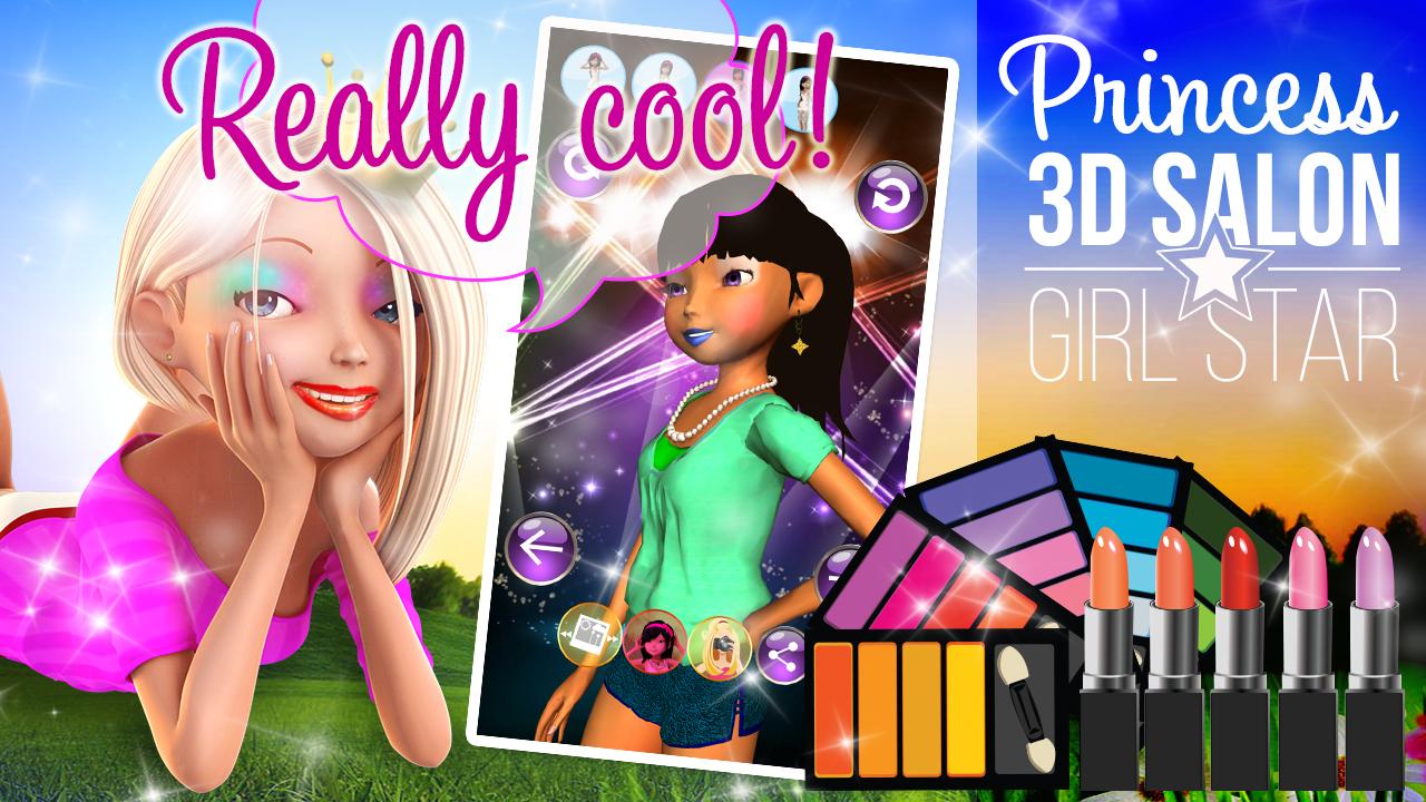 Zoom IMG-2 princess 3d salon girl star