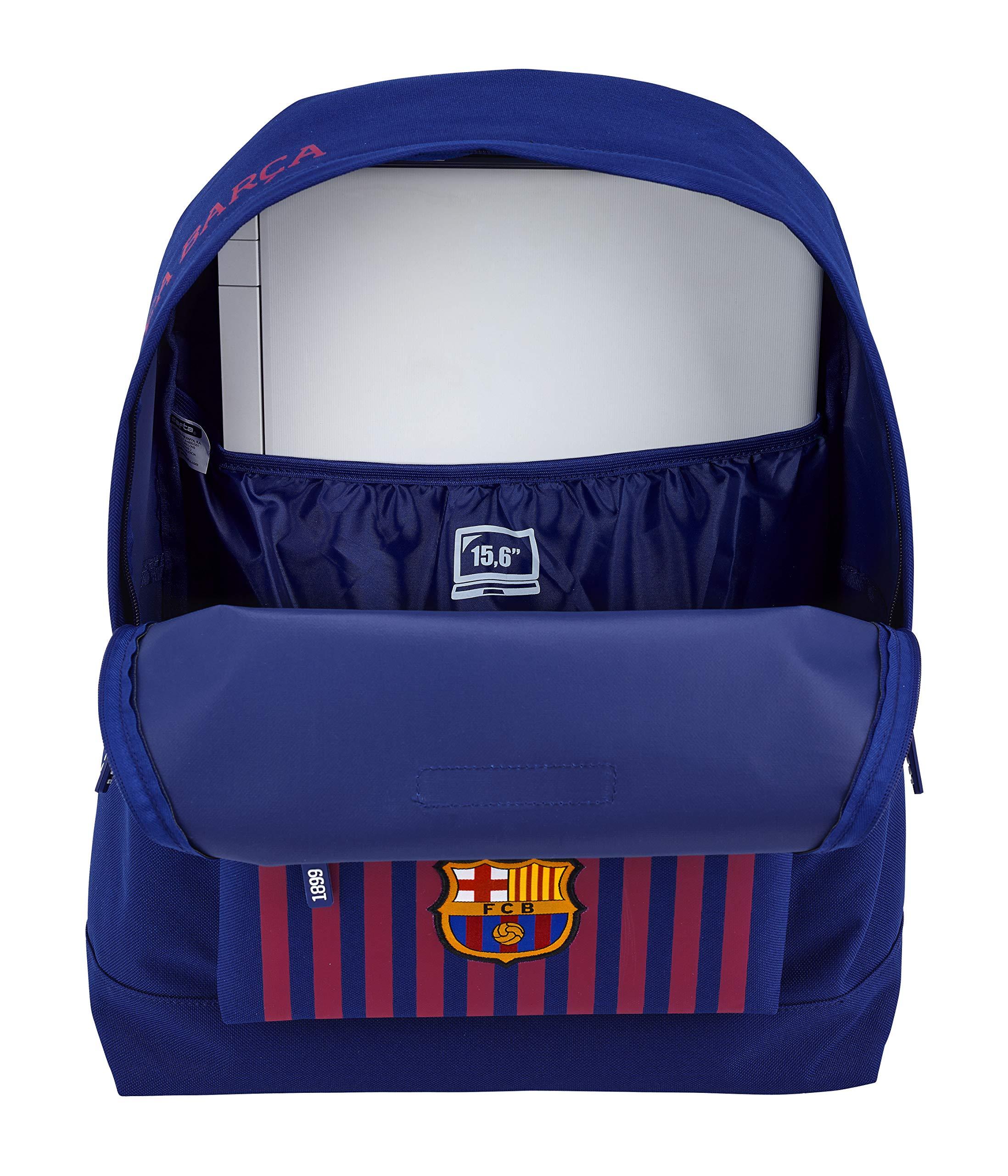 91SG1uLVAVL - FC Barcelona Mochila Grande con Funda Ordenador.