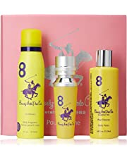 Beverly Hills Polo Club Gift Set 8 for Women (Eau De Toilette, Body Wash and Deodorant)