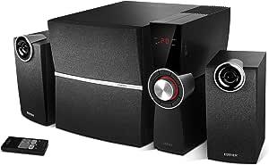 Edifier C2xd 2 1 Lautsprechersystem 53 Watt Mit Infrarot Fernbedienung Und Optischem Eingang Audio Hifi