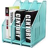 EXERZ Revistero archivador triple de malla metálica/Archivadores de revistas/Estante para escritorio- 3 Compartimentos para O