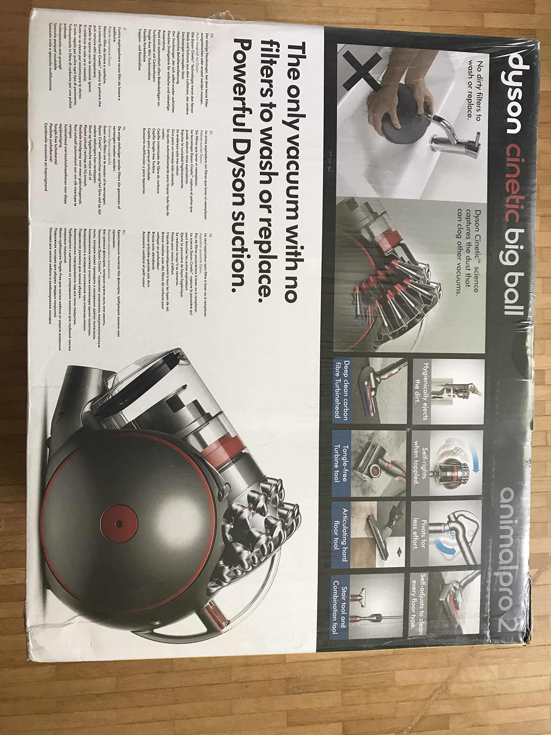 Dyson Cinetic Big Ball Animalpro 2 beutelloser Staubsauger | Inkl. pneumatischer-, Turbinen Carbonfaser-, Turbinen…