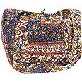 GURU SHOP Sadhu Bag, Umhängetasche, Blockdruck Hippie Schultertasche - Rot/weiß, Herren/Damen, Baumwolle, Alternative Umhänge