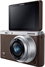 Samsung NX Mini 20.5MP Point and Shoot Digital Camera (Brown) with 1x Optical Zoom, 16GB card, Free Samsung Backpack