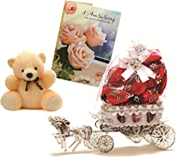 Skylofts Beautiful Horse Chocolate Gift With A Cute Teddy & Sorry Card