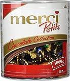merci Petits Chocolate Collection in der Runddose – Feine Pralinen in 7 köstlichen Sorten - kleines Dankeschön für jedermann – (1 x 1kggeschenkdose)