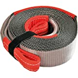 Haathi Winch Tow Strap, 15 feet x 3 inches, 15 Ton Break Strength, Weighs only 1.8 kgs, Extremely Flexible & Soft, Easily Rolled for Storage