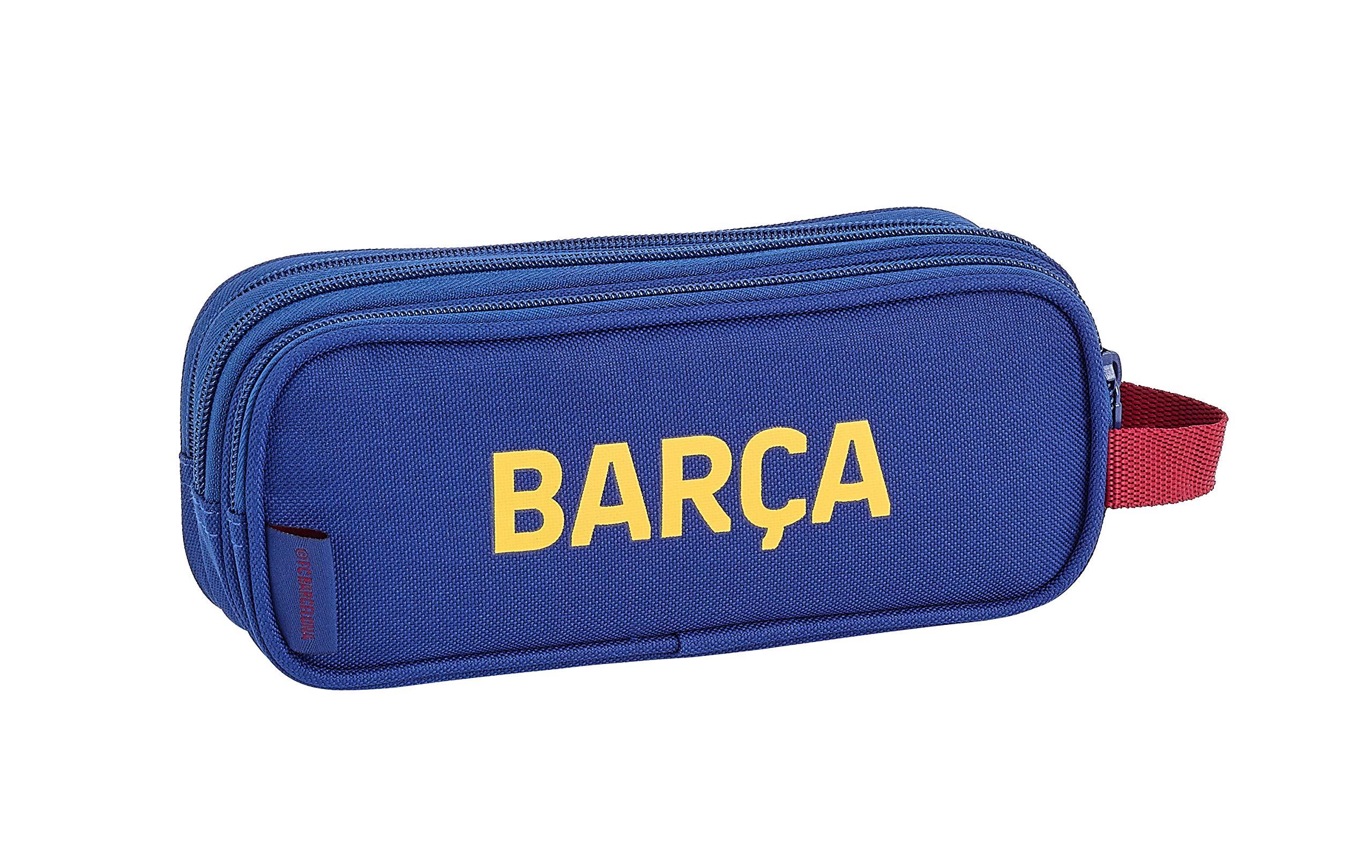 FCB FC Barcelona Estuche, Niños Unisex, Azul Marino, 21×8.5×7