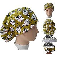 Cappello chirurgico Donna GATTINI per Capelli Lunghi Chirurgia Dentista Veterinario Cucina Asciugamano davanti…
