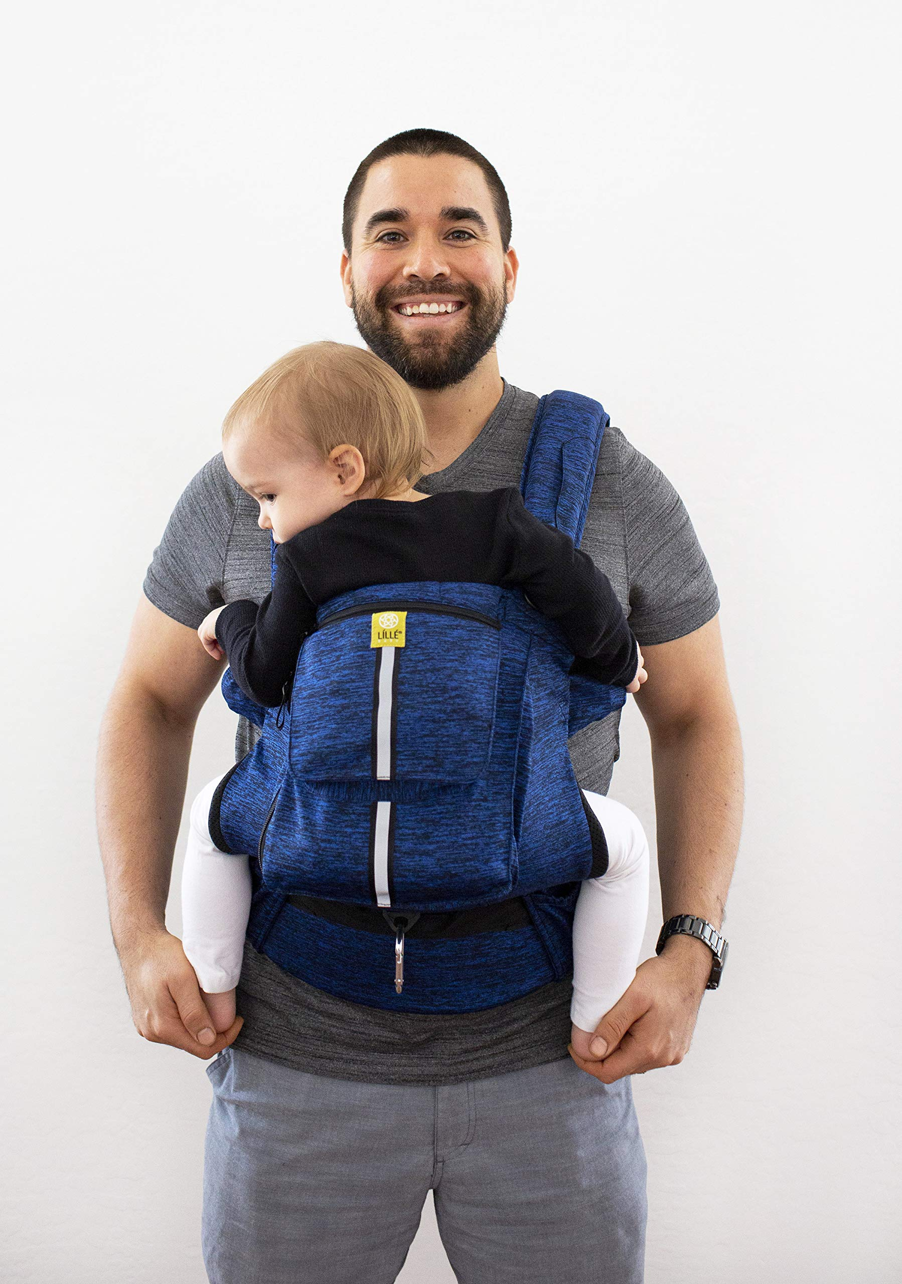 LÍLLÉbaby Complete Pursuit Pro 6-in-1 Baby Carrier Heathered, Sapphire Lillebaby Designed specifically for parents on the go, our pusuit series combines the comfort and functionality of our 6 in 1 design with adventure-ready features to help you show your little one the world Suitable from birth to 4 years, the active pro has a perfect combination of responsive fabric, advanced ergonomic fit, and innovative safety upgrades make it the ideal tool for all-weather exploring Unique líllébaby lumbar support for the wearer, with wide padded waist belt and shoulder straps 1