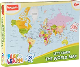 Kids puzzle games buy kids puzzle games online shop jigsaw funskool play learn world map puzzles gumiabroncs Images