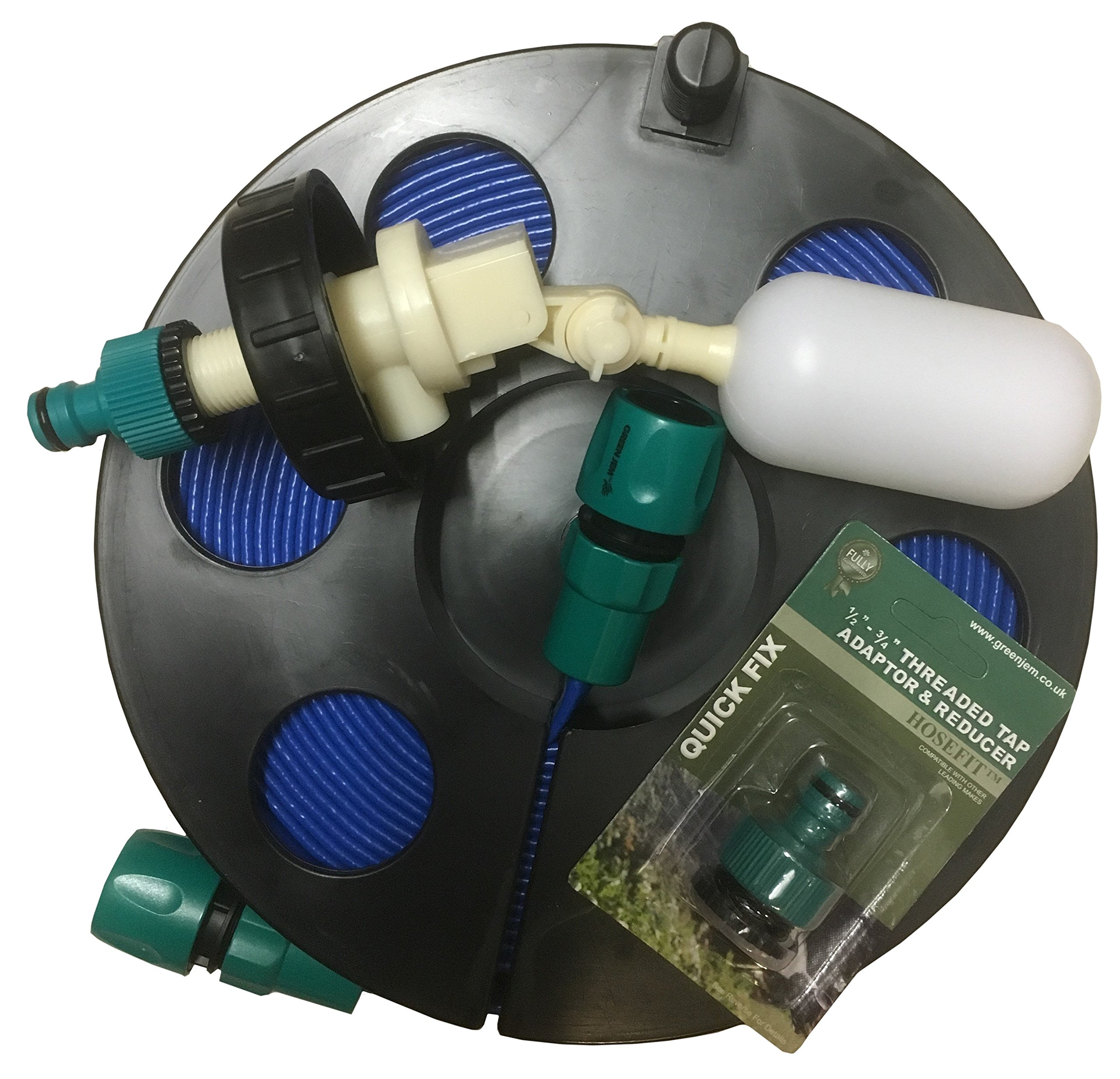 Care-avan Water Mains Kit for Aquaroll 40 ltr with 10 Mtr Flat Food Grade Hose on UK's Smallest Reel