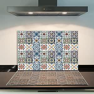 FORNELLO lastre di copertura 80x52 cm Ceranfeld copertura vetro Paraspruzzi Cucina Marrone
