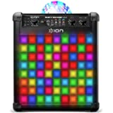 ION Audio Party Rocker Max - Bluetooth Karaoke Anlage mit Mikrofon, Partyleuchte, LED-Gitter und Echo-Effekt, 100 Watt, Schwa