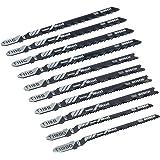Bosch Professional 10pièces Jeu de lames de scie sauteuse Basic for Wood (pour le bois, accessoires, pour scie sauteuse)