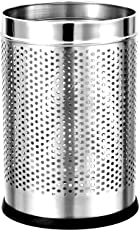 King International Stainless Steel Perforated Open Dustbin (10l) (8x8x13)