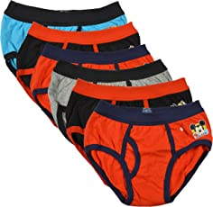 BODYCARE Pure Cotton Multi-Coloured Brief for Boys & Kids (307-Packof6)