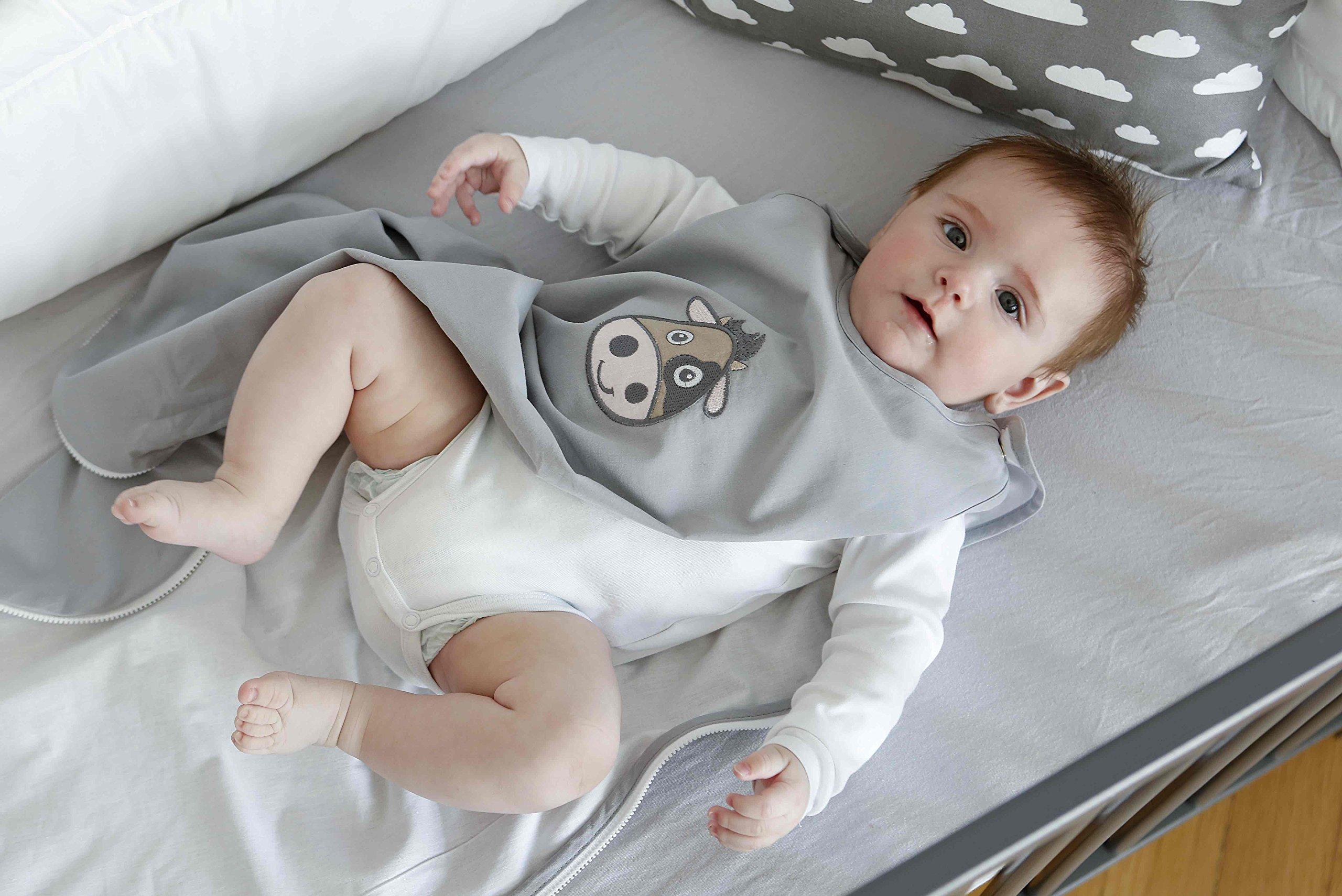 Minky Mooh saco de dormir del bebé del verano hecha de algodón 100% orgánico