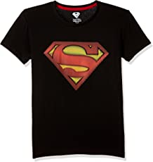Superman Boys' Plain Regular Fit T-Shirt